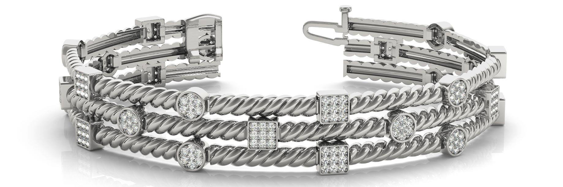 1 3/8 ct tw 14kt gold<br> White Bracelet 192 -<br> .0075PT Round