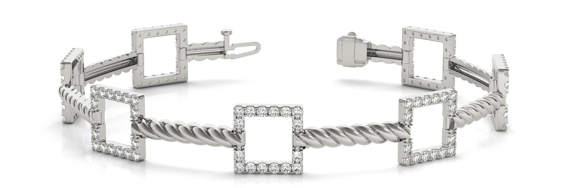 1 1/8 ct tw 14kt gold White Bracelet 112 - .01PT Round