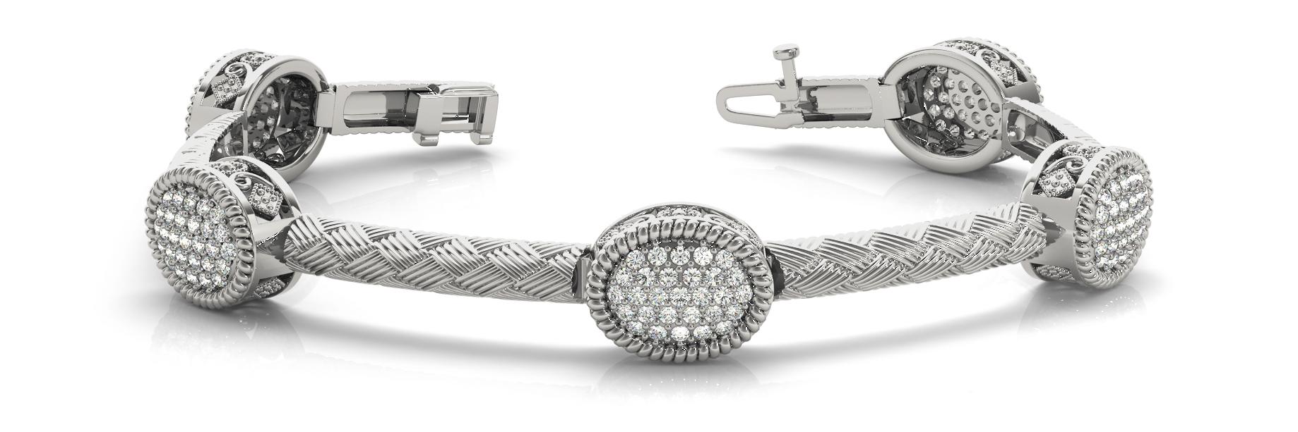 1 3/4 ct tw 14kt gold<br> White Bracelet 145 -<br> .0125PT Round