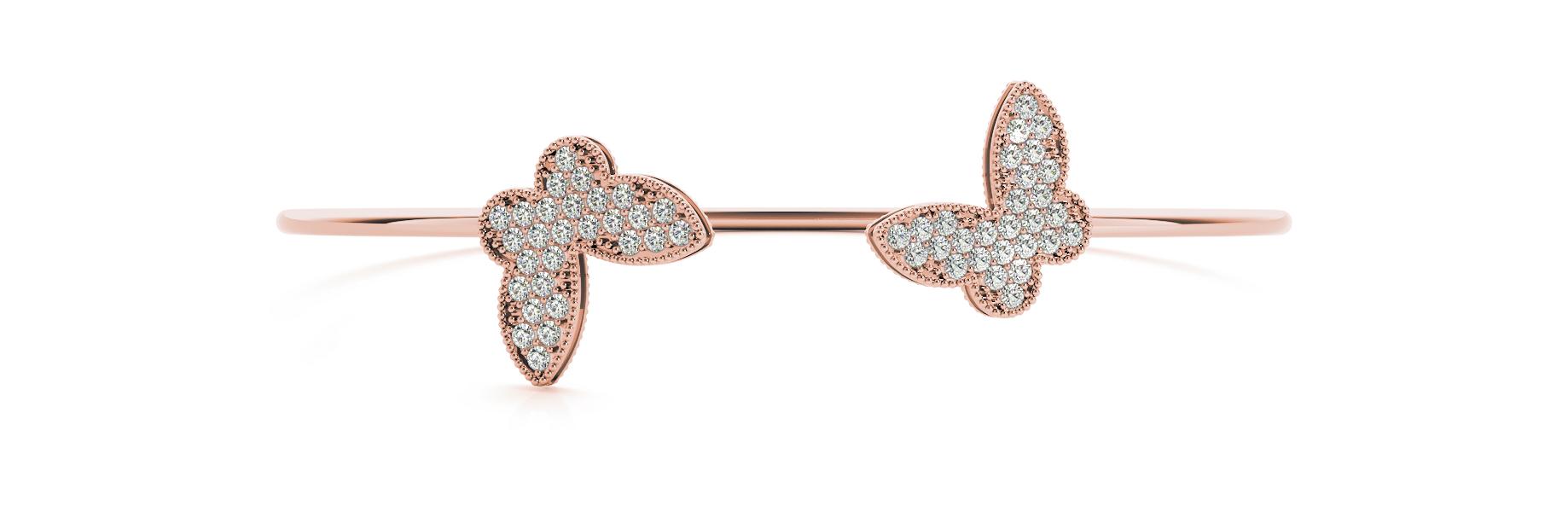 5/8 ct tw 14kt gold Pink Bracelet 28 - .015PT Round ,24 - .0075PT Round