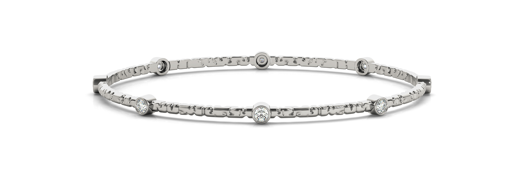1/4 ct tw 14kt gold White Bracelet 8 - .03PT Round