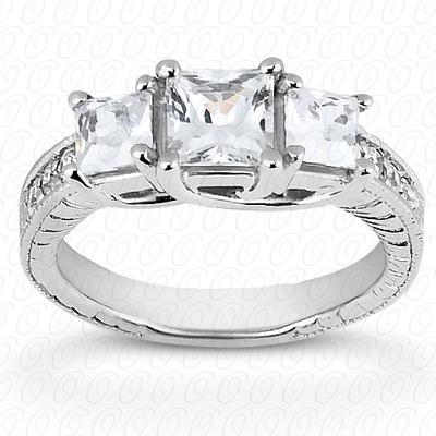 14KW Antique Cut Diamond Unique Engagement Ring 0.35 CT. Engagement Rings Style