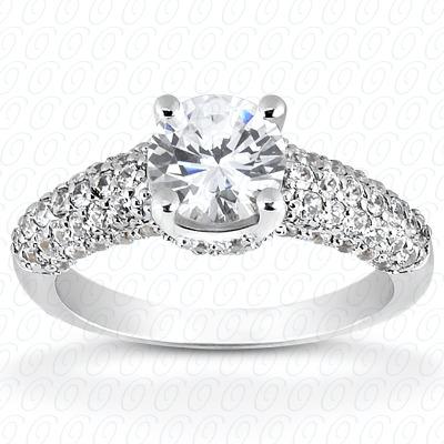 14KW Fancy Cut Diamond Unique Engagement Ring 0.66 CT. Engagement Rings Style