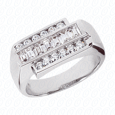 14KW Wedding Bands Cut Diamond Unique Engagement Ring 0.85 CT. Mens Rings Style