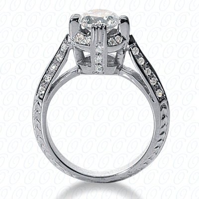 14KW Fancy Cut Diamond Unique Engagement Ring 0.34 CT. Engagement Rings Style