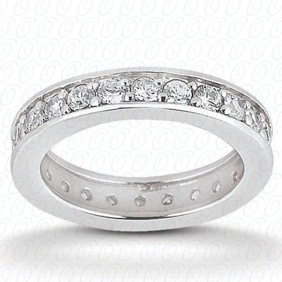 14KW  Round Cut Diamond Unique Engagement Ring 0.38 CT. Eternity Wedding Bands Style