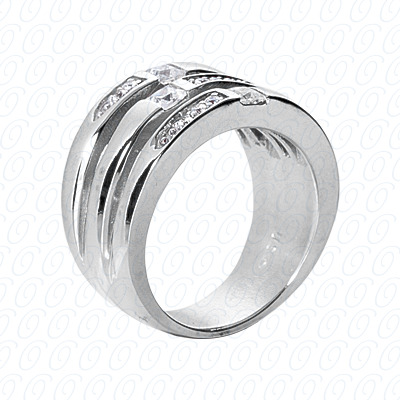 14KW Right Hand Rings Cut Diamond Unique Engagement Ring 0.50 CT. Fancy Rings Style