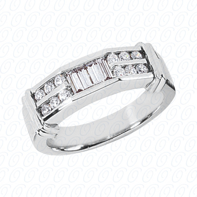 14KW Wedding Bands Cut Diamond Unique Engagement Ring 0.50 CT. Mens Rings Style