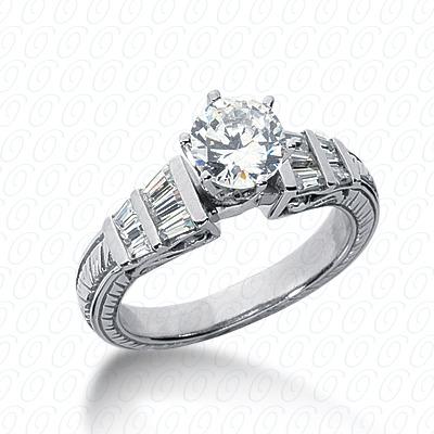 14KW Antique Cut Diamond Unique Engagement Ring 0.54 CT. Engagement Rings Style