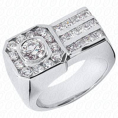 14KW Fancy Styles Cut Diamond Unique Engagement Ring 2.31 CT. Mens Rings Style