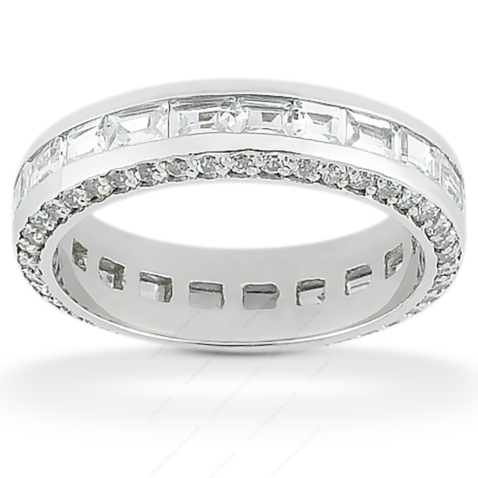 14KW Combinations Cut Diamond Unique Engagement Ring 2.41 CT. Eternity Wedding Bands Style