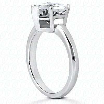 14KP Heart Cut Diamond Unique Engagement Ring 0.00 CT. Solitaires Style