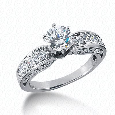 14KW Antique Cut Diamond Unique Engagement Ring 0.39 CT. Engagement Rings Style