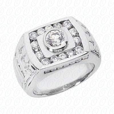 14KW Fancy Styles Cut Diamond Unique Engagement Ring 1.86 CT. Mens Rings Style