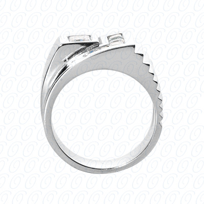 14KW Fancy Styles Cut Diamond Unique Engagement Ring 2.42 CT. Mens Rings Style