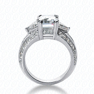 14KW Fancy Cut Diamond Unique Engagement Ring 1.27 CT. Engagement Rings Style