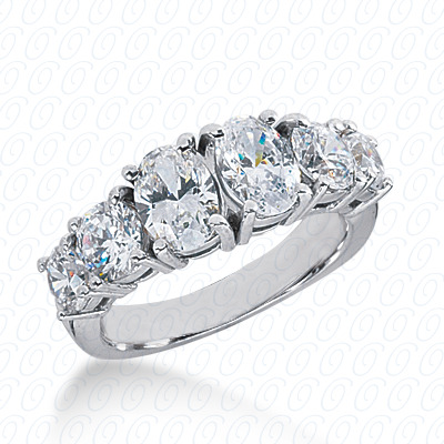 14KW Oval Cut Diamond Unique Engagement Ring 1.60 CT. Wedding Bands Style