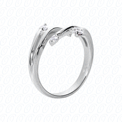 14KW Right Hand Rings Cut Diamond Unique Engagement Ring 0.34 CT. Fancy Rings Style