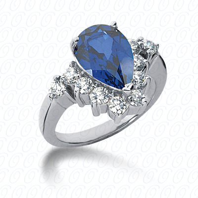 Pear Cut Diamond Unique Engagement Ring 0.80 CT. Color Stone Rings Style