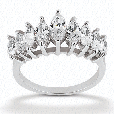 14KW Marquise Cut Diamond Unique Engagement Ring 1.47 CT. Wedding Bands Style
