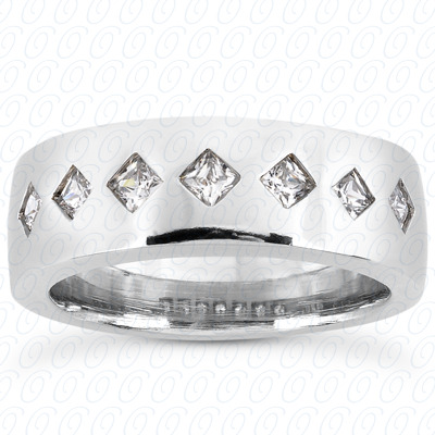 14KW Princess Cut Diamond Unique Engagement Ring 0.70 CT. Wedding Band Sets Style