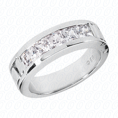 14KW Wedding Bands Cut Diamond Unique Engagement Ring 2.00 CT. Mens Rings Style
