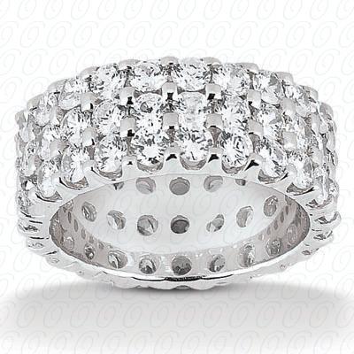 14KW  Round Cut Diamond Unique Engagement Ring 5.70 CT. Eternity Wedding Bands Style