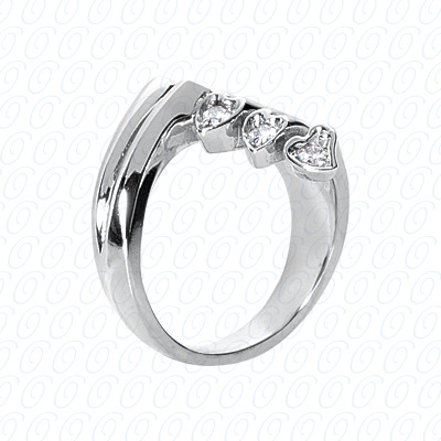 14KW Right Hand Rings Cut Diamond Unique Engagement Ring 0.20 CT. Fancy Rings Style