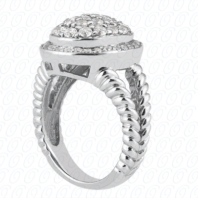 14KW Journey Rings Cut Diamond Unique Engagement Ring 0.50 CT. Fancy Rings Style