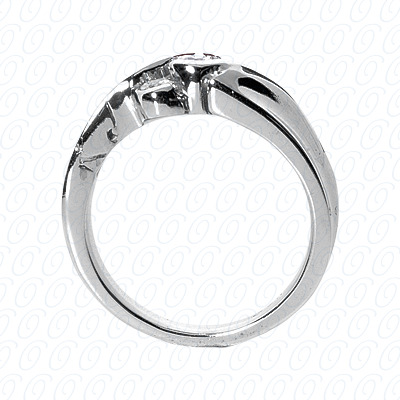 14KW Fancy Rings Cut Diamond Unique Engagement Ring 0.31 CT. Fancy Rings Style