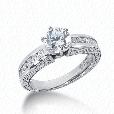 14KW Antique Cut Diamond Unique Engagement Ring 0.42 CT. Engagement Rings Style