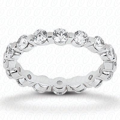 14KW  Round Cut Diamond Unique Engagement Ring 1.50 CT. Eternity Wedding Bands Style