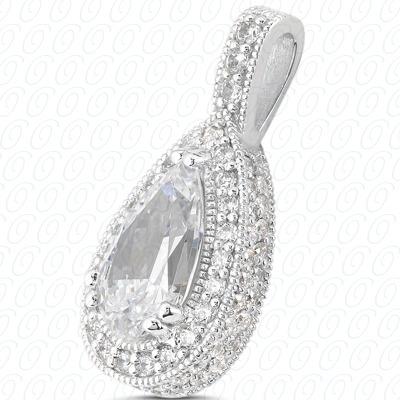 14KW  Color Stones Cut Diamond Unique Engagement Ring 0.80 CT. Pendants Style