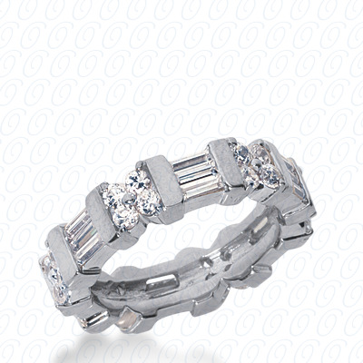 14KW Combinations Cut Diamond Unique Engagement Ring 2.28 CT. Eternity Wedding Bands Style