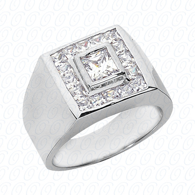 14KW Fancy Styles Cut Diamond Unique Engagement Ring 1.62 CT. Mens Rings Style