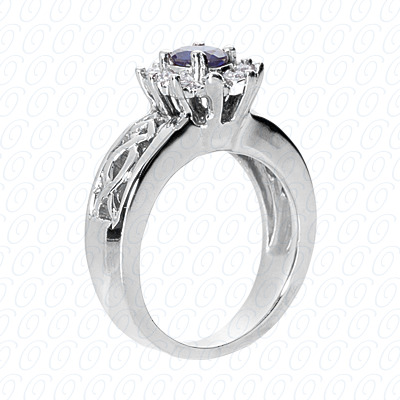 14KW Fancy Rings Cut Diamond Unique Engagement Ring 0.30 CT. Fancy Rings Style