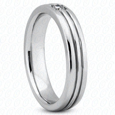 14KW Wedding Bands Cut Diamond Unique Engagement Ring 0.15 CT. Mens Rings Style