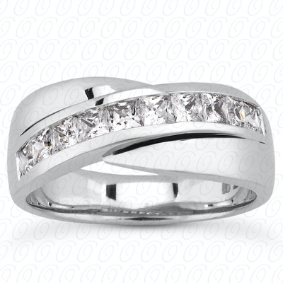 14KW Princess Cut Diamond Unique Engagement Ring 1.40 CT. Wedding Band Sets Style