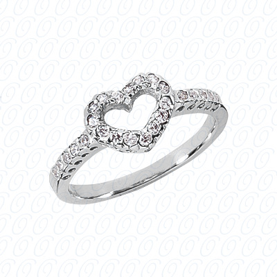 14KW Round Cut Diamond Unique Engagement Ring 0.25 CT. Color Stone Rings Style