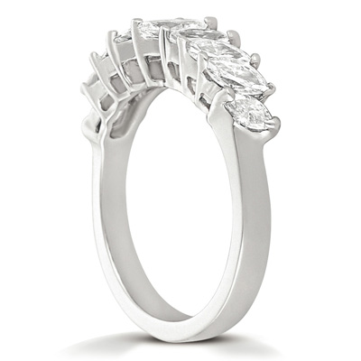 14KW Marquise Cut Diamond Unique Engagement Ring 1.24 CT. Wedding Bands Style