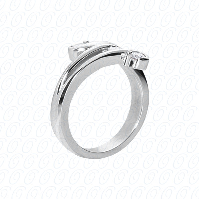 14KW Right Hand Rings Cut Diamond Unique Engagement Ring 0.21 CT. Fancy Rings Style
