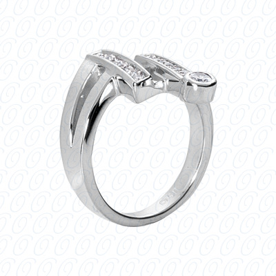 14KW Right Hand Rings Cut Diamond Unique Engagement Ring 0.36 CT. Fancy Rings Style
