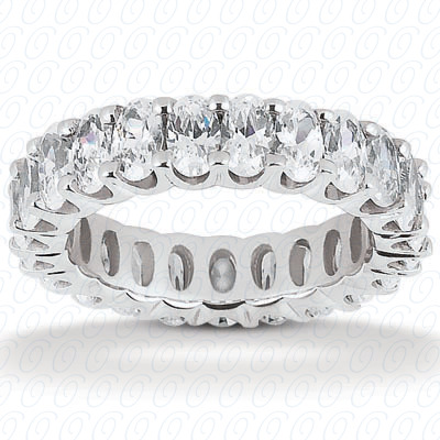 14KW Oval Cut Diamond Unique Engagement Ring 4.00 CT. Eternity Wedding Bands Style