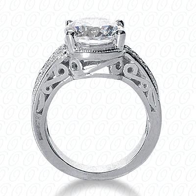 14KW Antique Cut Diamond Unique Engagement Ring 0.24 CT. Engagement Rings Style