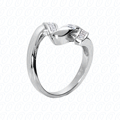 14KW Right Hand Rings Cut Diamond Unique Engagement Ring 0.35 CT. Fancy Rings Style