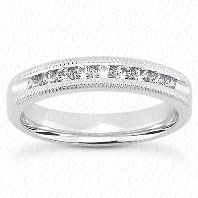 14KW Bar Setting Cut Diamond Unique Engagement Ring 2.19 CT. Round Style