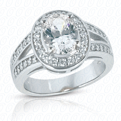 14KW Oval Cut Diamond Unique Engagement Ring 0.26 CT. Color Stone Rings Style