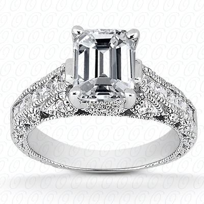 14KW Antique Cut Diamond Unique Engagement Ring 0.51 CT. Engagement Rings Style
