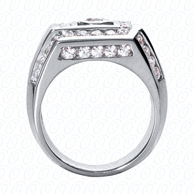 14KW Fancy Styles Cut Diamond Unique Engagement Ring 1.98 CT. Mens Rings Style