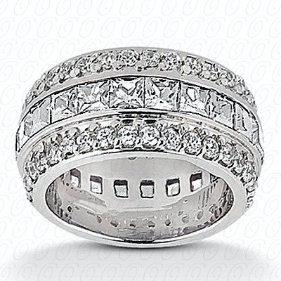 14KW Combinations Cut Diamond Unique Engagement Ring 2.38 CT. Eternity Wedding Bands Style